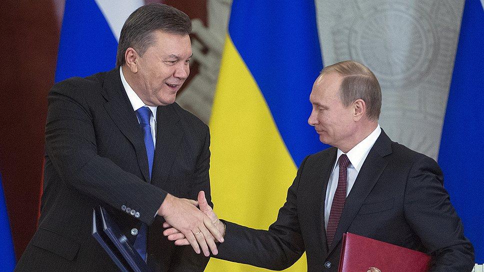 О чем Виктор Янукович договорился с Владимиром Путиным