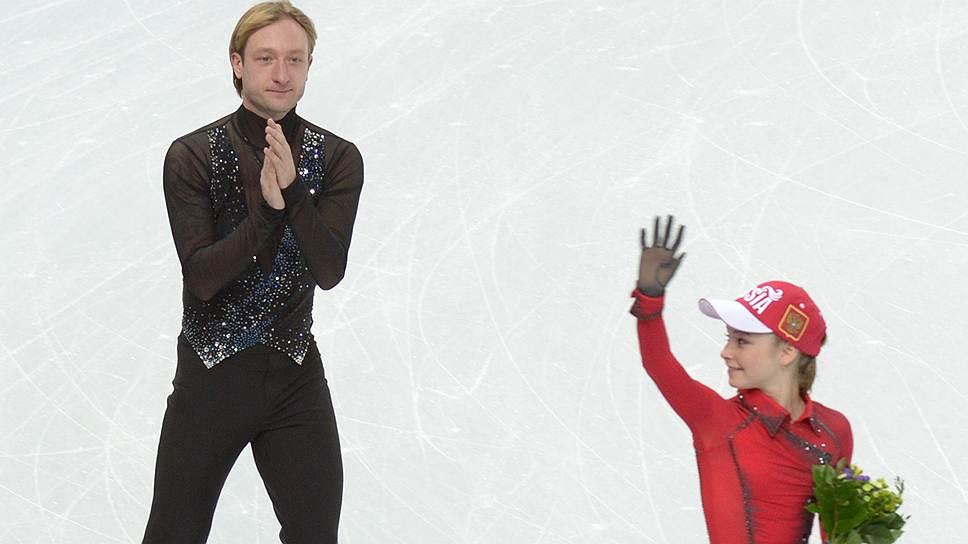15-летняя дебютантка Олимпийских игр Юлия Липницкая и 31-летний ветеран Евгений Плющенко внесли наибольший вклад в победу сборной России в командном турнире