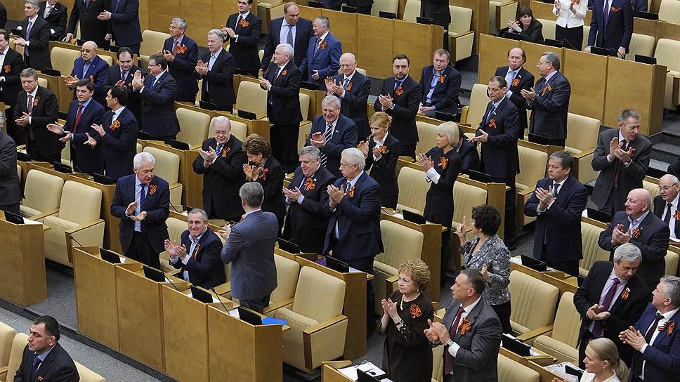 Депутаты приняли Крым в едином порыве