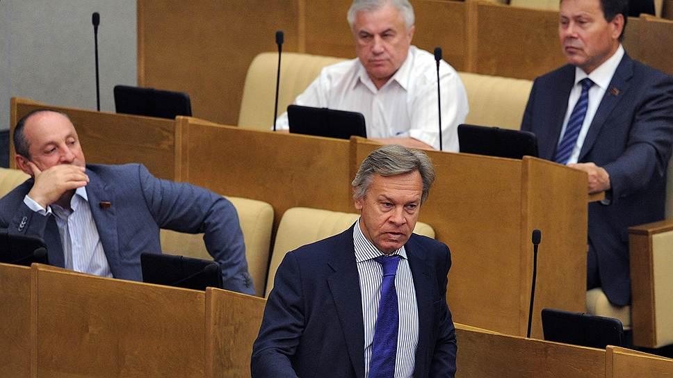 Председатель комитета Государственной думы (ГД) России по международным делам Алексей Пушков