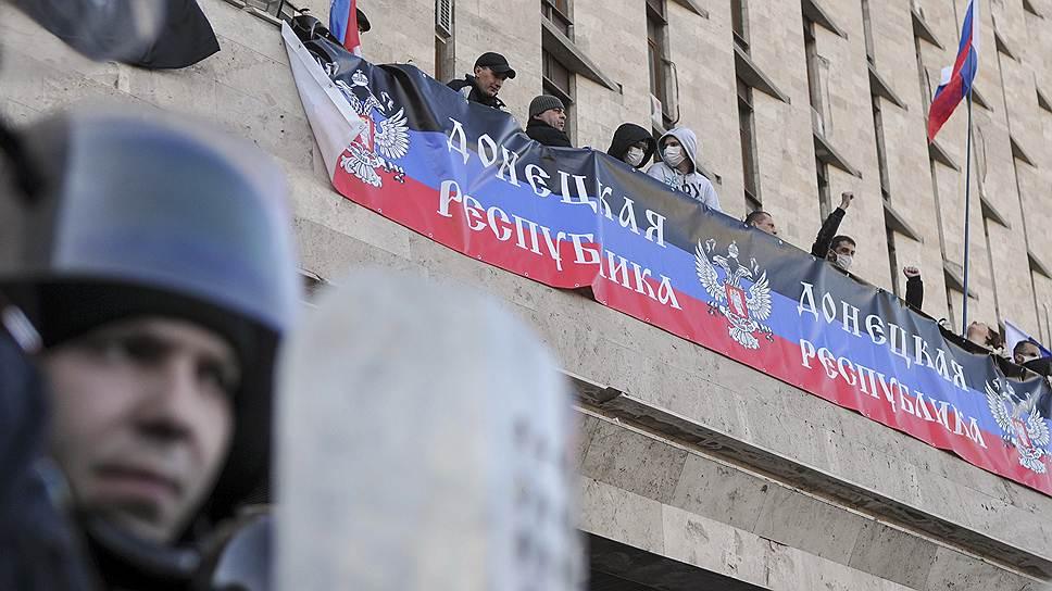 Местные правоохранительные органы не препятствовали провозглашению Донецкой республики
