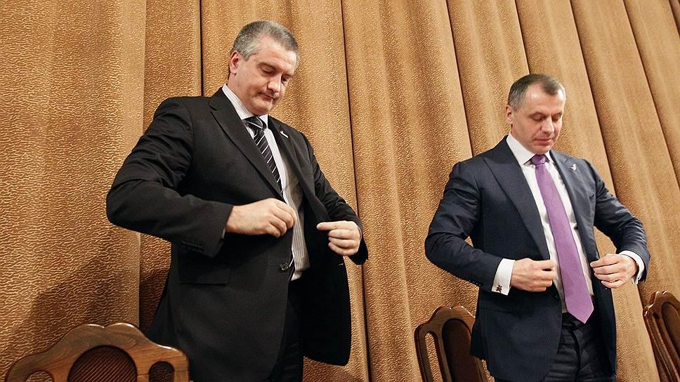 Председатель совета министров Республики Крым Сергей Аксенов и председатель Госсовета Крыма Владимир Константинов