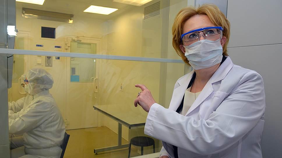 Министр здравоохранения Вероника Скворцова столкнулась с пристальным интересом профессионалов к своим разработкам