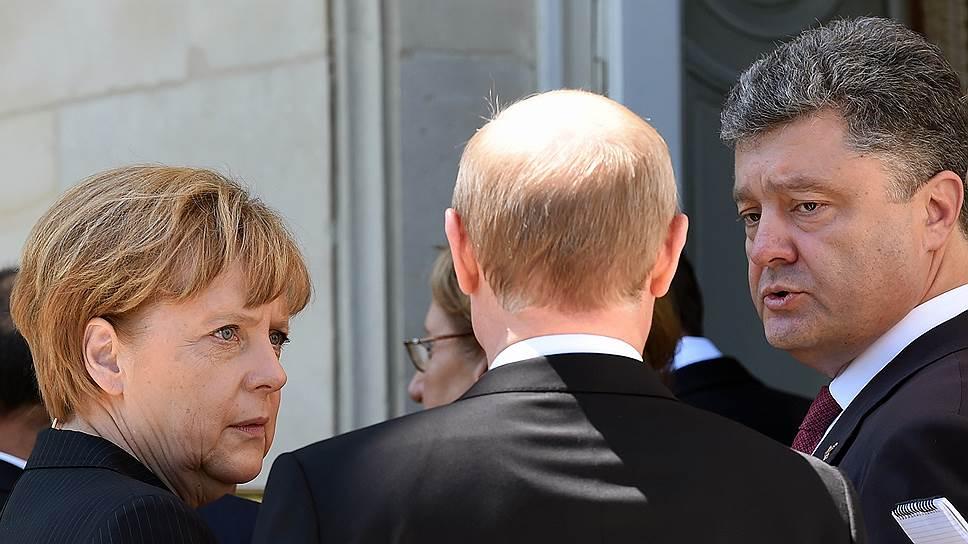 Как Петр Порошенко встретился с Владимиром Путиным