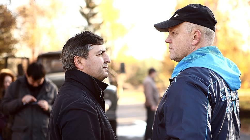 Несмотря на то что следствие подозревает Юрия Гамбурга (слева) в превышении должностных полномочий, глава Омской области Виктор Назаров (справа) не торопится снимать его с должности своего первого заместителя