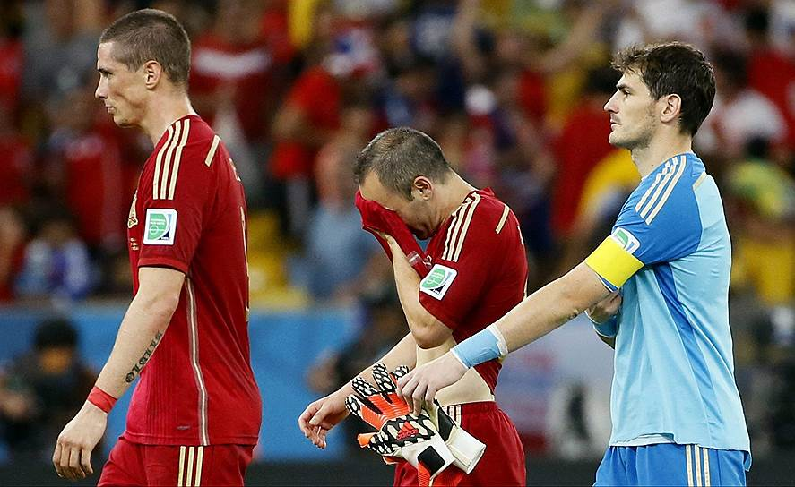 Эра испанского господства в футболе завершилась 18 июня поражением от сборной Чили на групповом этапе чемпионата мира
