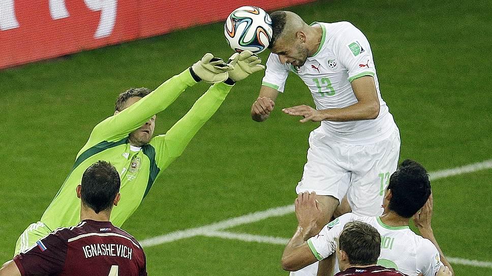 Гол Ислама Слимани (№13) поставил крест на надеждах сборной России выйти в play-off чемпионата мира