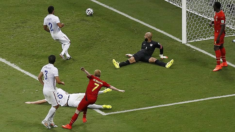 Сборной Бельгии удалось пробить бесстрашного американского голкипера Тима Ховарда только в дополнительное время