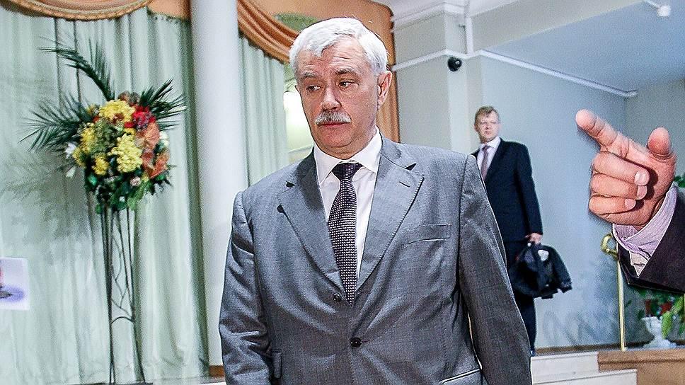 Главному конкуренту Георгия Полтавченко (на фото) на губернаторских выборах создают проблемы уголовного характера