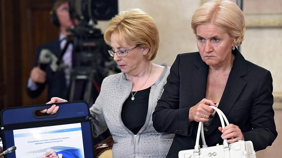 Министр здравоохранения Вероника Скворцова (слева) и вице-премьер Ольга Голодец нашли деньги не только на высокотехнологичную медпомощь