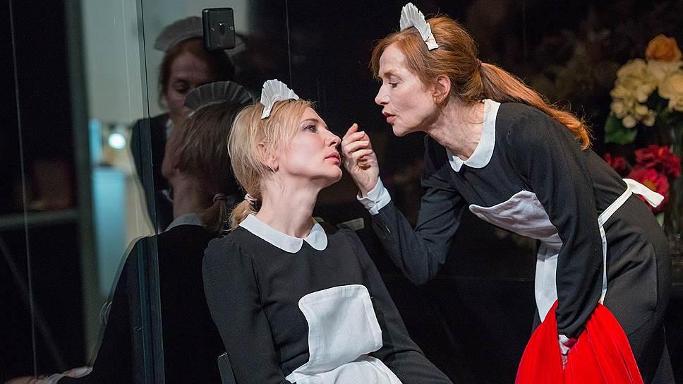 Встреча в одном спектакле Изабель Юппер и Кейт Бланшетт изумительна, потому что воочию можно увидеть два совершенно разных способа игры