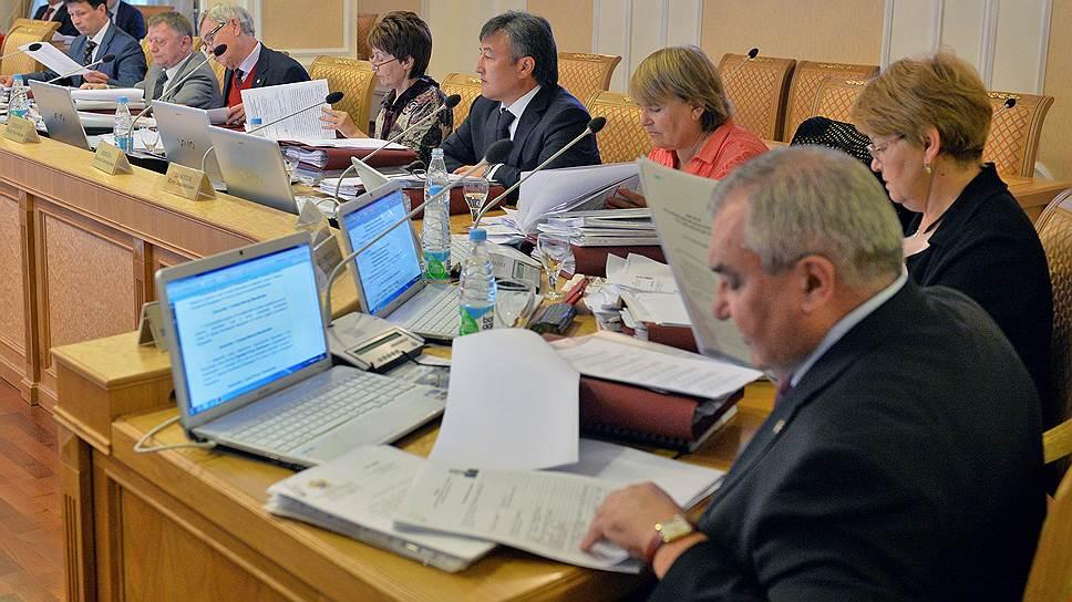 Заседание высшей квалификационной коллегии судей (ВККС) России, посвященное рассмотрению заявлений претендентов на должности судей Верховного суда России, в здании ВККС