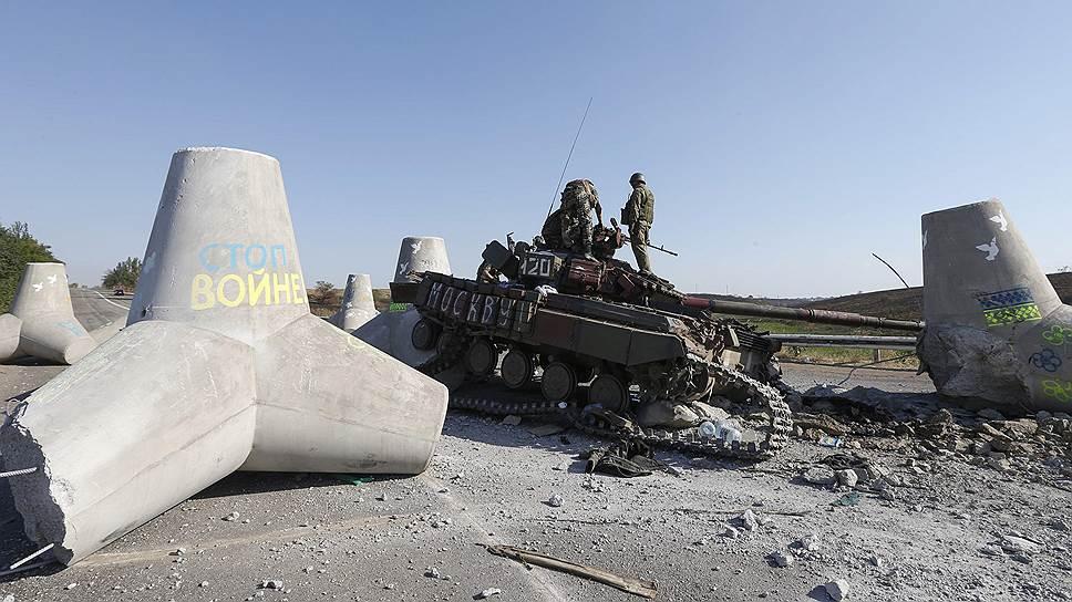 Украинская бронетехника сама себя проверила на прочность