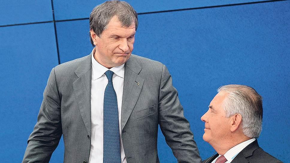 Президент «Роснефти» Игорь Сечин с пониманием относится к провалу попыток ExxonMobil во главе с Рексом Тиллерсоном защитить российские проекты от санкций США
