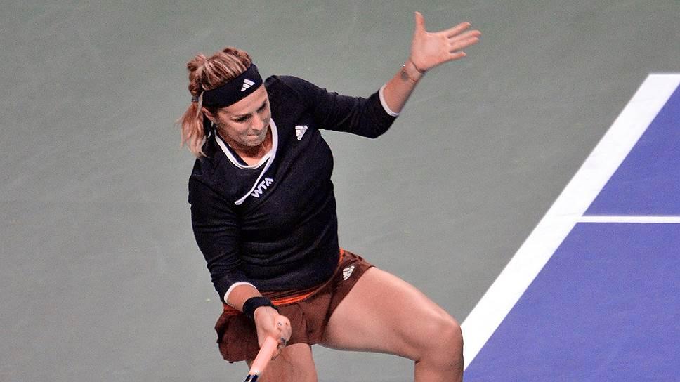 Россиянка Анастасия Павлюченкова (на фото) в первом круге Кубка Кремля уверенно справилась с хорваткой Аной Конюх