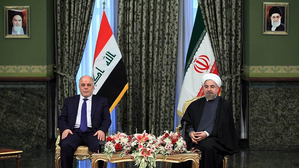 Премьер Ирака Хайдер аль-Абади и президент Ирана Хасан Роухани