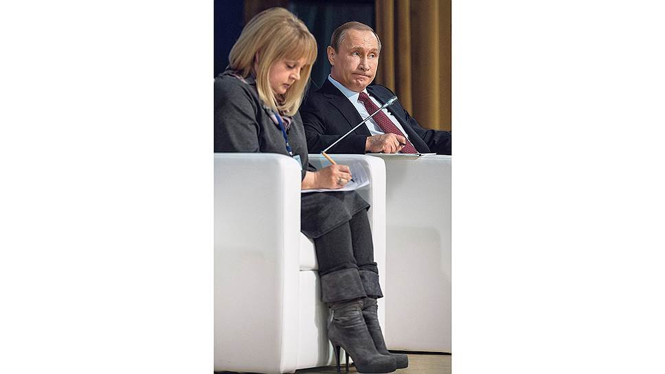 Элла Памфилова оказалась вчера единственной, кто не просил льгот у Владимира Путина