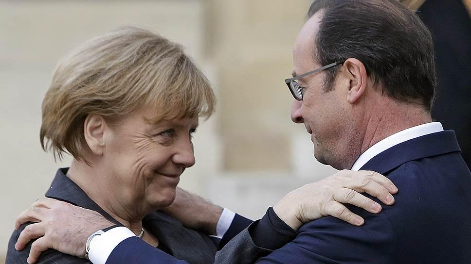 Ангела Меркель и Франсуа Олланд объединили усилия, пытаясь остановить войну на Украине