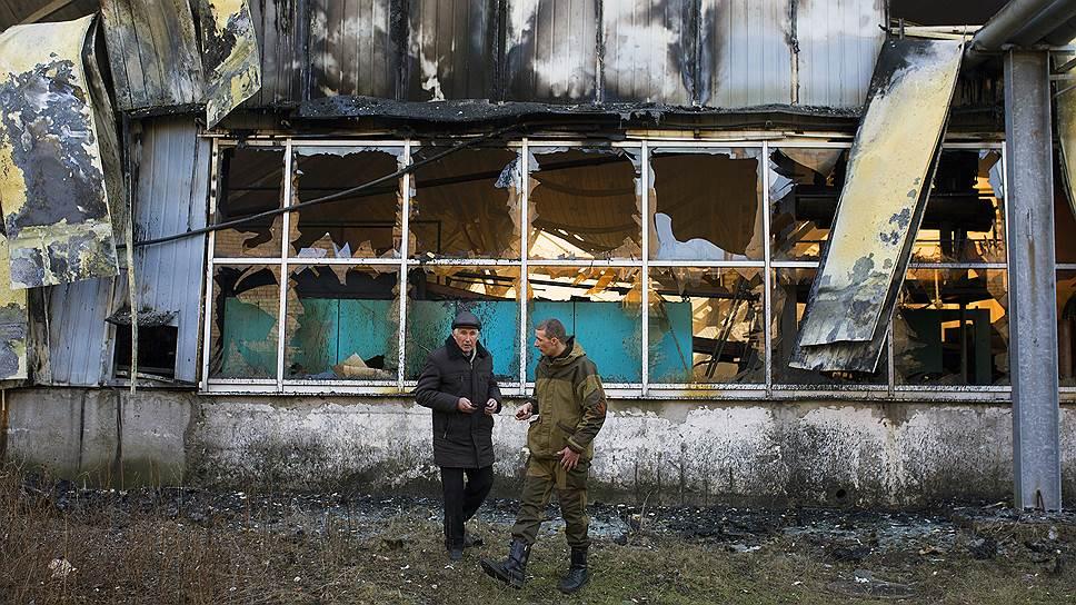 Артподготовка к прекращению огня / Накануне перемирия обстрелы в Донецке продолжались