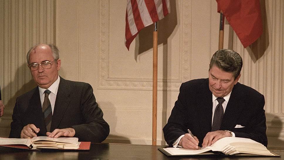 Подписанный в 1987 году лидерами СССР и США Михаилом Горбачевым и Рональдом Рейганом Договор об РСМД может стать причиной новых экономических санкций