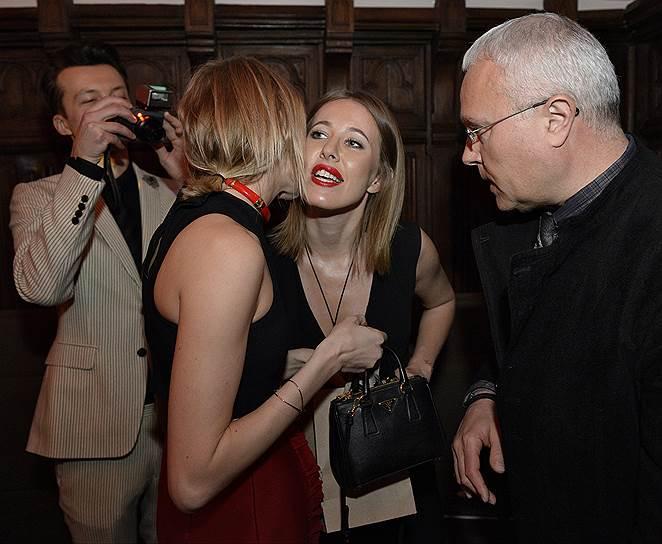 Поцелуи с Еленой Перминовой и Александром Лебедевым оказались для Ксении Собчак прощальными