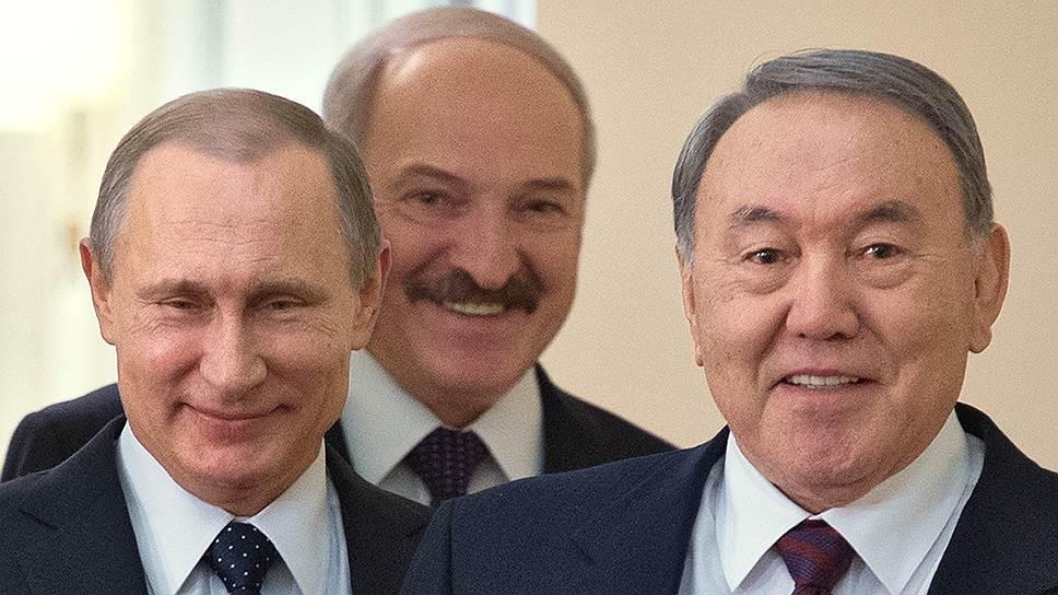 Владимир Путин, Александр Лукашенко и Нурсултан Назарбаев были рады встретиться в Астане, хоть и не по делу