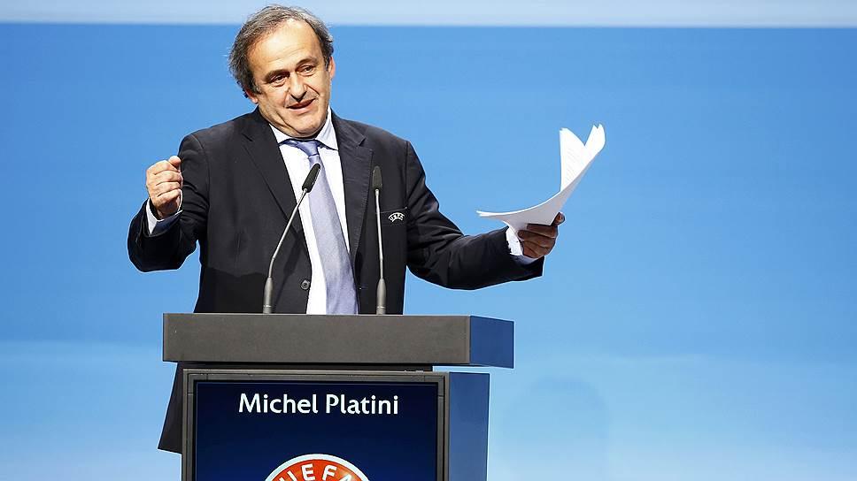 Глава Союза европейских футбольных ассоциаций (UEFA) Мишель Платини