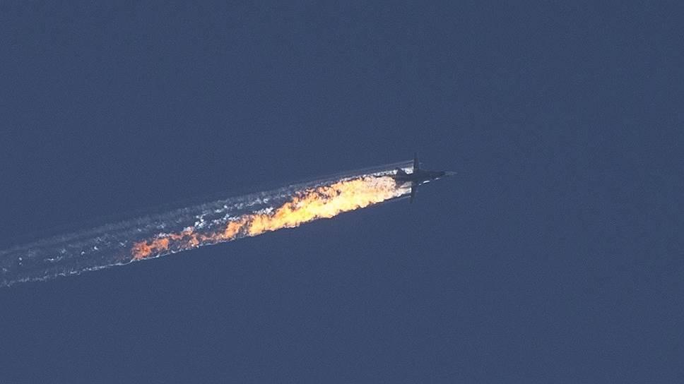 Турецкие ВВС сбили российский бомбардировщик Су-24