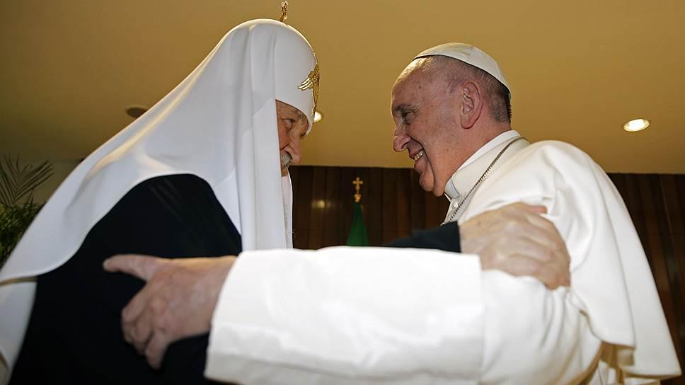 Патриарх встретил и проводил папу в аэропорту Гаваны