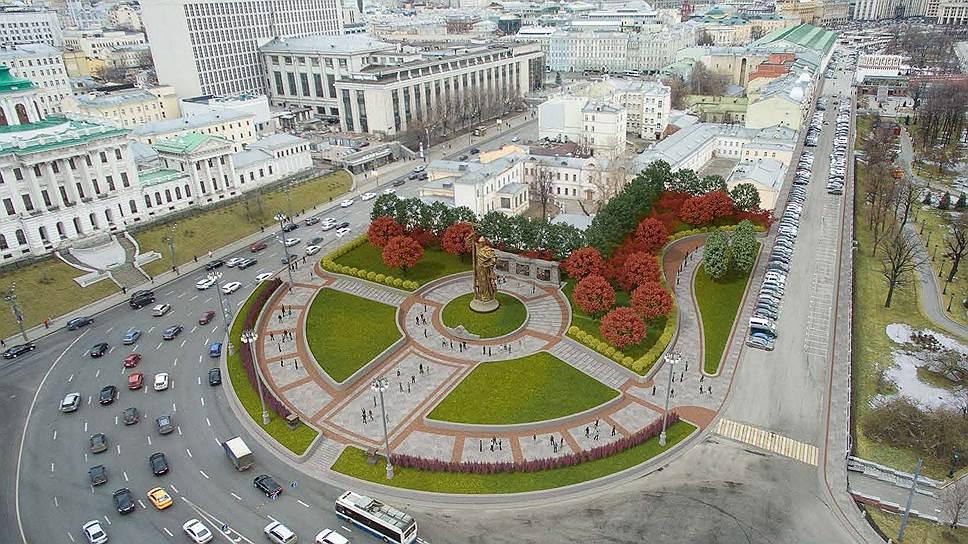 На благоустройство территории вокруг Кремля, в том числе места установки памятника, Москва потратит более 2,6 млрд руб.
