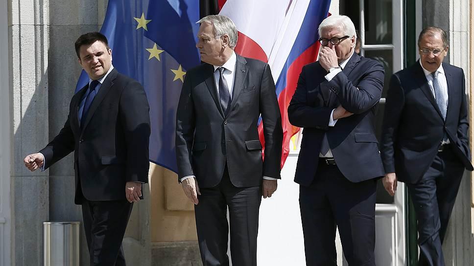Главы МИДов России, ФРГ, Франции и Украины не смогли договориться о выборах в Донбассе
