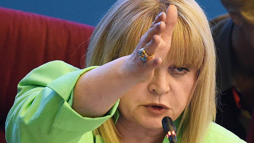 Элла Памфилова подала голос за наблюдателей