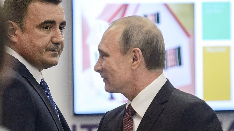 Как о своих стратегических разработках Владимиру Путину докладывал губернатор Тульской области Алексей Дюмин
