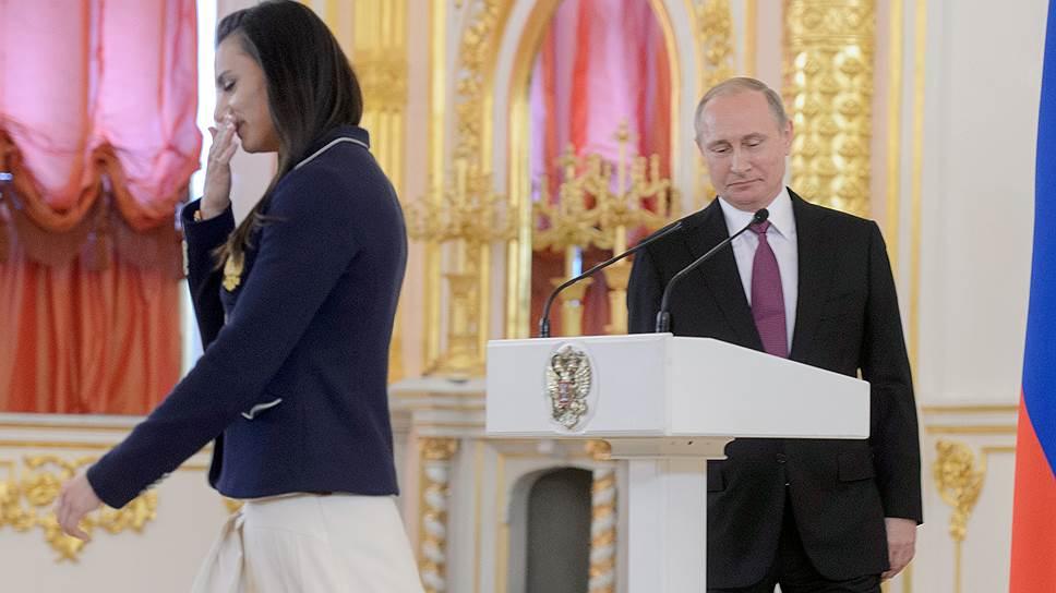 Что сказала Елена Исинбаева на встрече с Владимиром Путиным в Кремле