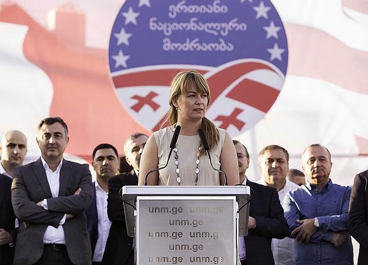 Супруга бывшего президента Грузии Михаила Саакашвили Сандра Рулофс