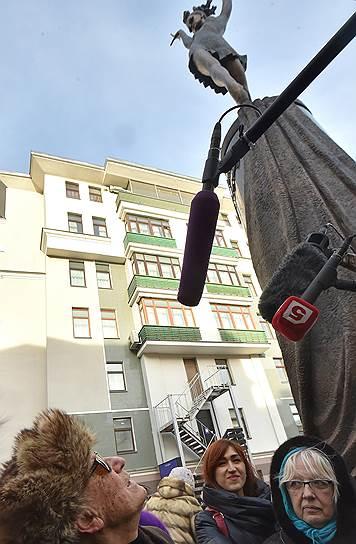 Открытие памятника Майе Плисецкой в сквере ее имени на улице Большая Дмитровка