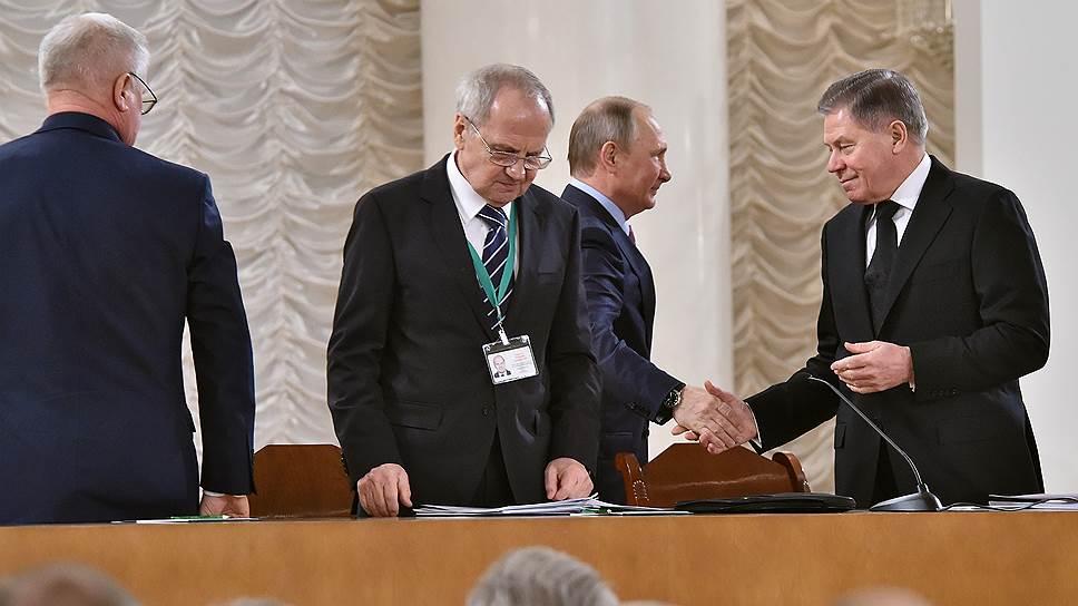 Как на всероссийском съезде выступили президент и главы высших судов