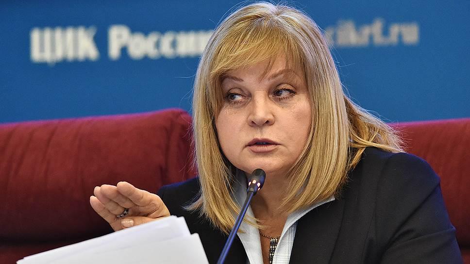 Элла Памфилова запросила видеонаблюдения за президентскими выборами
