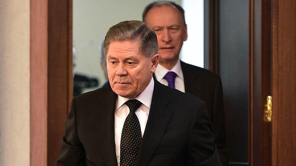 Председатель ВС Вячеслав Лебедев (слева) и секретарь Совета безопасности России Николай Патрушев