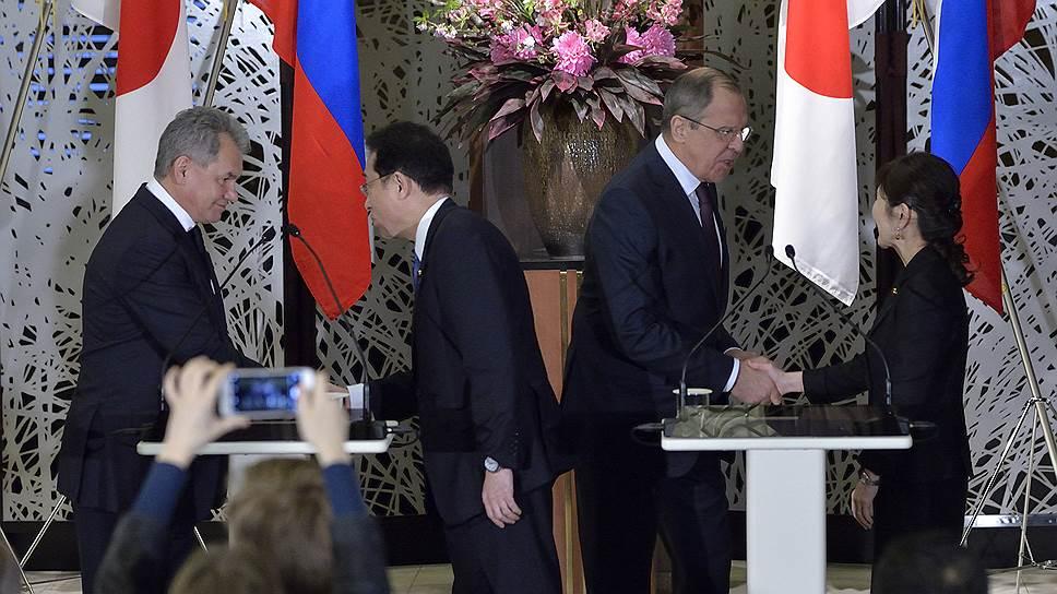 Переговоры министров иностранных дел и обороны России и Японии в формате «2+2» прошли впервые с 2013 года