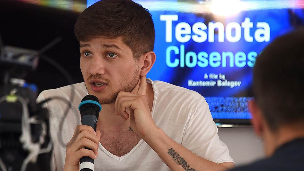 Наряду с деятелями кинобизнеса в Российском павильоне выступали и сами творцы — например, режиссер Кантемир Балагов