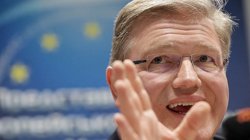 Россия не хочет видеть на посту генсека ОБСЕ Штефана Фюле — бывшего еврокомиссара и выпускника МГИМО