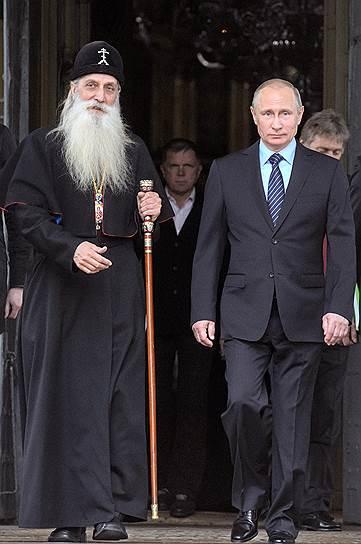 Президент Владимир Путин и митрополит Корнилий впервые вошли вместе в старообрядческий храм