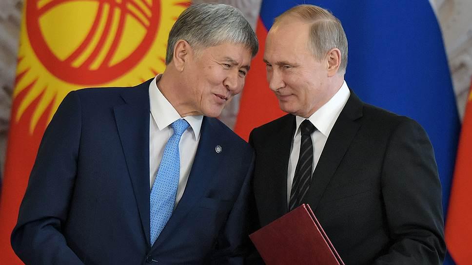 Как прошла встреча Владимира Путина и Алмазбека Атамбаева