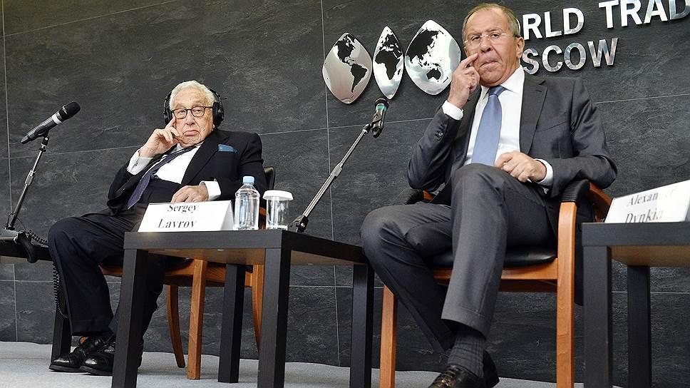 Генри Киссинджер и Сергей Лавров с оптимизмом смотрят на будущее российско-американских отношений