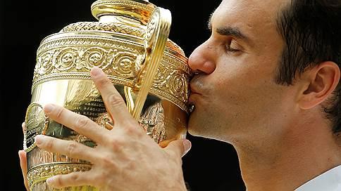 Роджер Федерер не отдал на Wimbledon ни сета // И получил восьмую победу