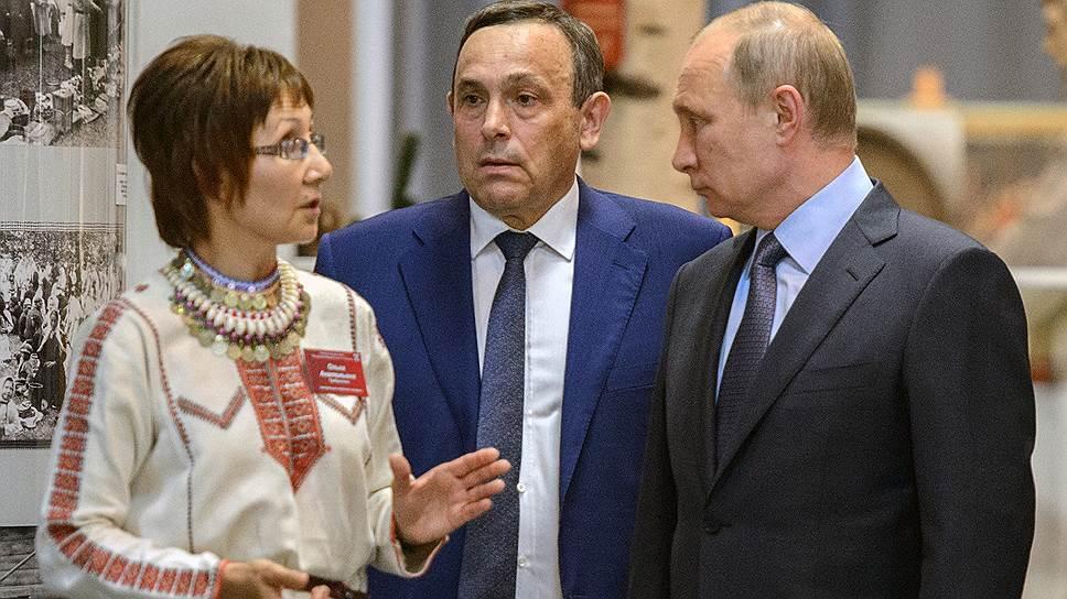 Александр Евстифеев (в центре) считает приезд Владимира Путина (справа) в Марий Эл «высокой оценкой» своей деятельности