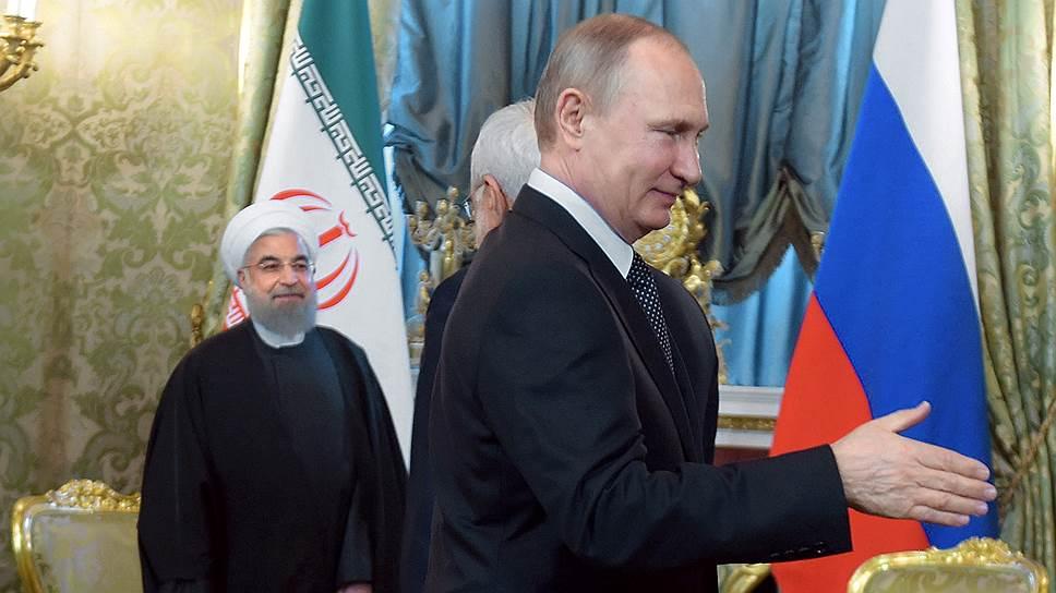 Президент Ирана Хасан Роухани (слева) и президент России Владимир Путин