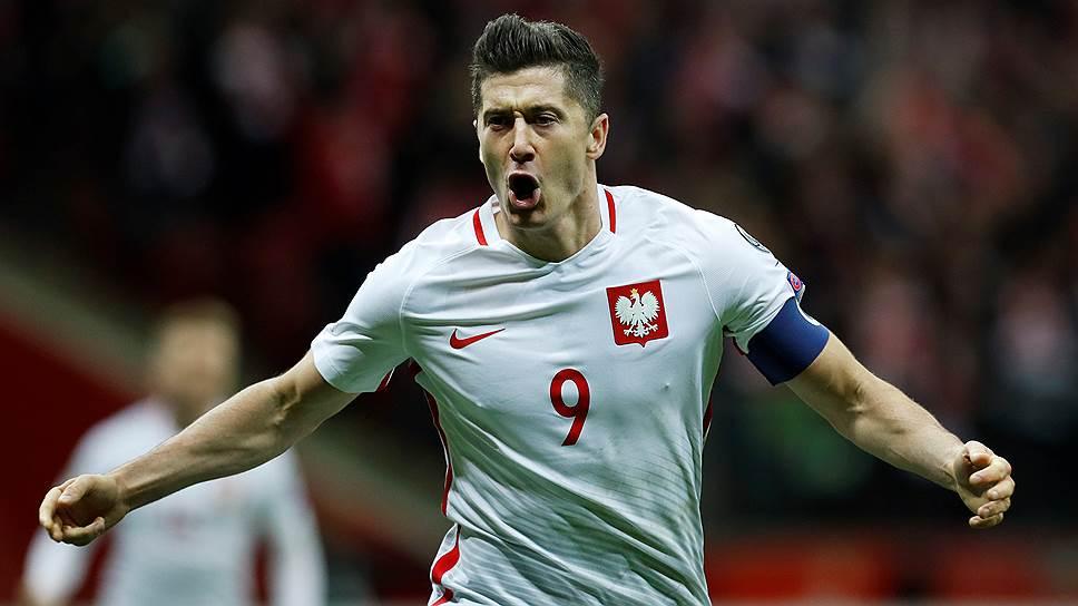 Лидер сборной Польши Роберт Левандовский в десяти матчах отборочного турнира забил 16 мячей