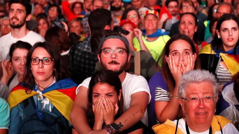 Речь Карлеса Пучдемона разочаровала сторонников независимости Каталонии